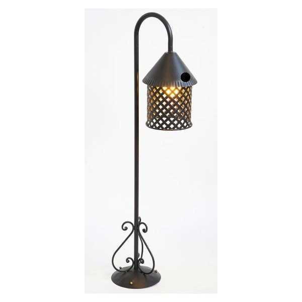 Lampione da parete in ferro modello Africa per viale giardino completo di impian