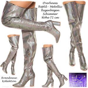 Overknees Reptil Todzi Stiefel Silber Strass Metallic Hohe Sexy Gr Sergio Neu 40 nxB6wqUX06