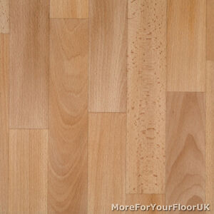 Beech wood plank vinyl flooring nonslip kitchen lino 3m ebay for Lino laminate flooring