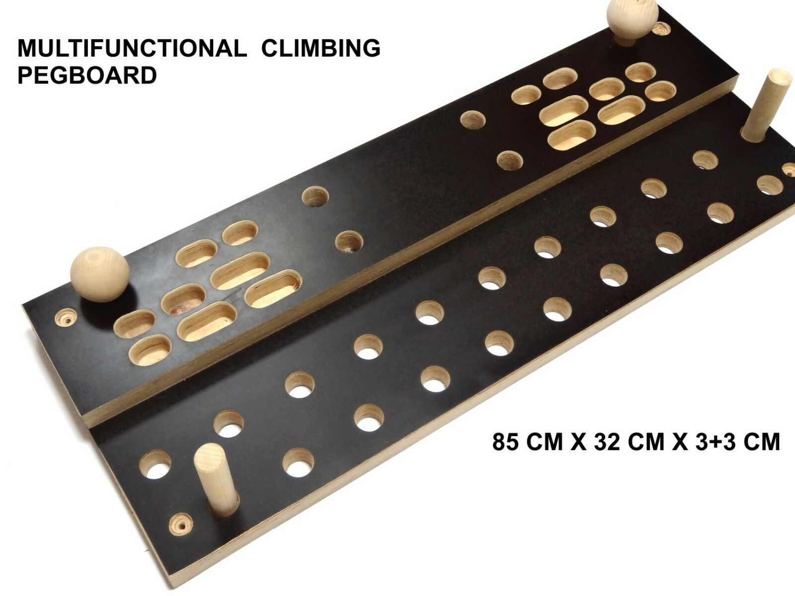 MG® Trainingsboard Steckbrett Klettergriffe Seitenlänge pegboard klettertraining