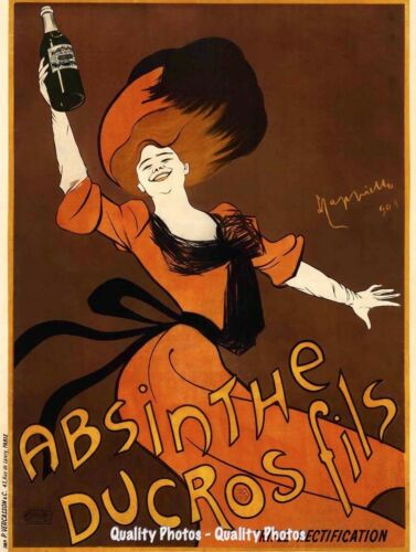 "Leonetto Cappiello Absinthe 8.5x11/"" Photo Print Dance Hall Woman Ducros Fils Adv"