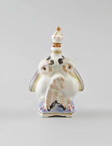 Decorative Arts 5cm 9997242 Porcelain Figurine Ens Snuffbox Parfüm-flakon Pelican H8
