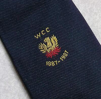 100% Vero Vintage Cricket Cravatta Da Uomo Cravatta Retro Wcc 1887-1987 Woodvale-mostra Il Titolo Originale Acquista One Give One
