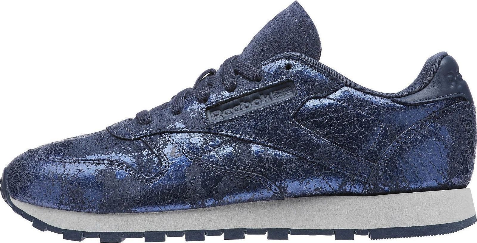 Reebok Classic CL Leather Textural HYPE Sizes 5-7 bluee   BNIB BS6784