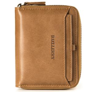 Men Women Leather Zip Credit Card Holder Money Clip Coin Purse Wallet Billfold