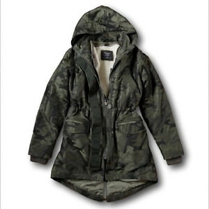 2106dd607c757 NWT Abercrombie&Fitch Hollister Sherpa Fur 3-In-1 Olive Camo Parka ...