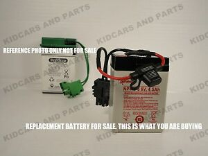 peg perego thomas the train replacement 6 volt battery w wires rh ebay com peg perego 12 volt battery wiring harness Peg Perego 12V Replacement Battery