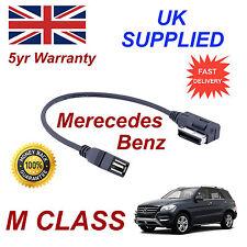 Mercedes Benz Clase M Mp3 Memory Stick USB Cable de interfaz de medios de