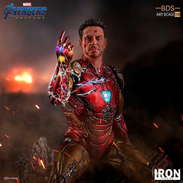 Iron Studios 1 10 Iron Man Mark 85 Estatua Figura Colección Juguete Vengadores Solider