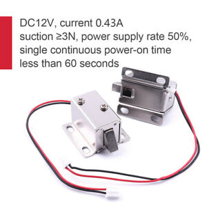 2pcs 12V Electric Solenoid Lock Tongue Upward Assembly for Door Cabinet Drawer