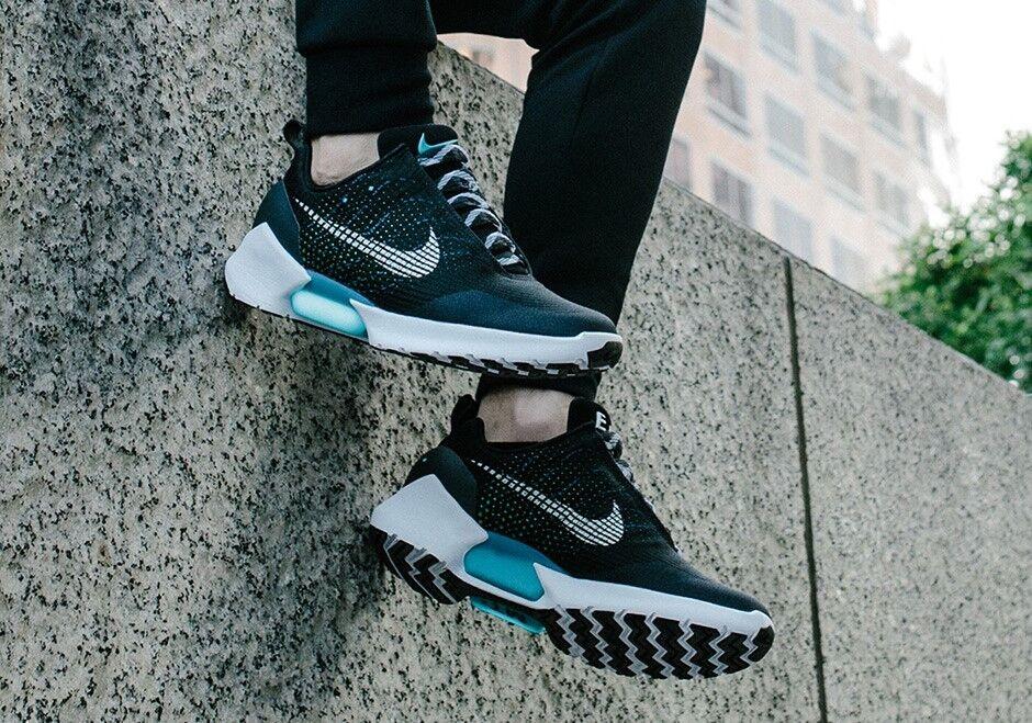 Nike 843871-001 Hyper Adapt 1.0 EARL Snowcap Black Blue Lagoon 843871-001 Nike Sz8.5 auto lace 1 813814