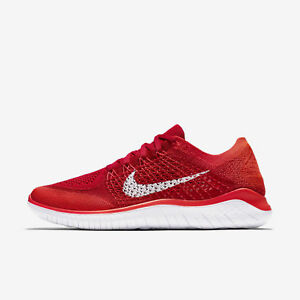 Détails sur HOMME Nike Free Rn Flyknit 2018 Chaussures Rouge Blanc 942838 601 Pdsf