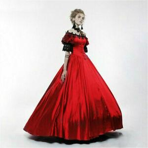Lady-Lolita-Victorian-Gothic-Dress-Lace-Off-shoulder-Steampunk-Evening-Retro-New
