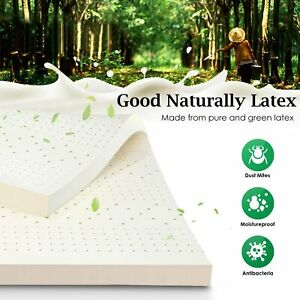 Cover Nesaila Latex Mattress Topper King 100/% Natural Latex-Infused Mattress