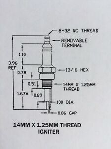Thermal P5006 Alburn I-31-1 Crown CA506 Gas Ignitor