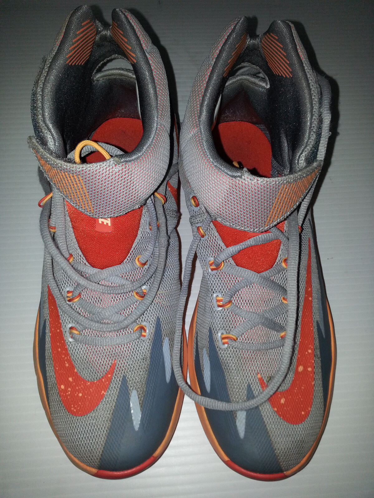 KEVIN DURANT NBA Nike 2018 Mens Sneakers Shoes Size 8 Gray Orange