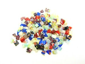 Millefiori-Glass-Chips-Beads-Mixed-Colours-Jewellery-Craft-Beading-UK-SELLER-ML