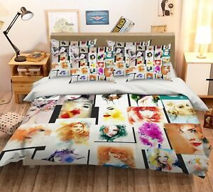 3D-Anime-Girl-58-Bed-Pillowcases-Quilt-Duvet-Cover-Set-Single-Queen-King-AU-Cobb