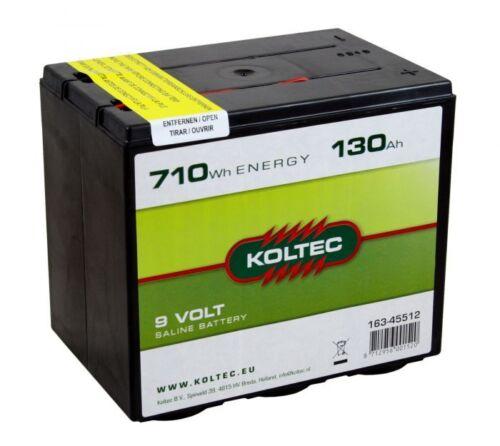Trockenbatterie für Weidezäune Koltec ZINK-KOHLE 130Ah 9V Weidezaunbatterie