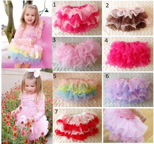 Newborn Baby Girl Kids Toddler 4 Layer Tutu Skirt Ballet Dance Party Costume