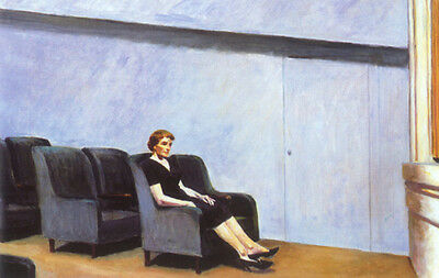 "Intermission by Edward Hopper  14/""  Paper Print Repro"