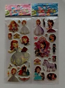 2pcs-lot-PRINCESS-SOFIA-Puffy-Stickers-Sheets-Party