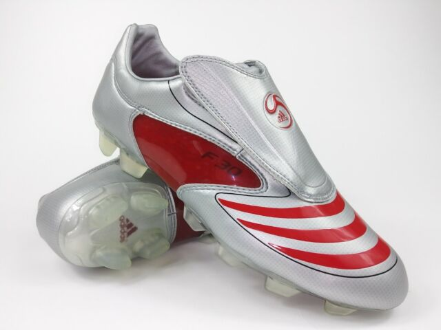 Adidas Mens Rare F30.8 TRX FG 034294 Silver Red Soccer Cleats Football Boots