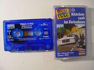 TKKG-106-Maedchenraub-im-Ferienhaus-blaue-Mc-Kassette-EUROPA-LOGO-Hoerspiel
