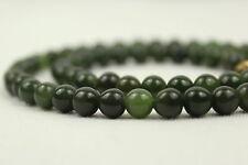 "6mm Jade Necklace 16"" 6 mm Jade Beads Natural Green Jade Necklace"