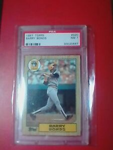 Details About 1987 Topps Barry Bonds Rookie Card 320 Error Psa 7 Incomplete 3 At 320