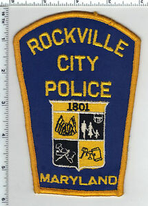 Rockville-City-Police-Maryland-Shoulder-Patch-new-from-the-Early-1980-039-s