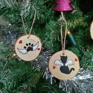 Personalised Acrylic Pet Cat Dog Memorial Christmas Tree Decoration Xmas Gift