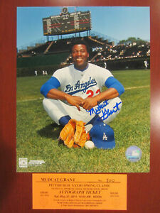 Signed-8x10-photo-Mudcat-Grant-LA-Dodgers