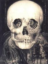 Stampa incorniciata-SALVADOR DALI Gotico Teschio (Pittura foto poster Arte Goth)