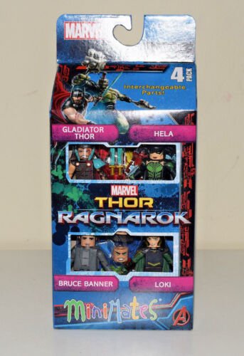 Thor Ragnarok 4 Pack Box Set Minimates Thor Hela Loki Bruce Banner Marvel NEW