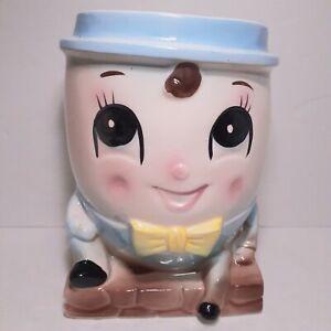 Rubens Humpty Dumpty Planter Head Vase Japan Ceramic 1950s Vintage 3106 Rare