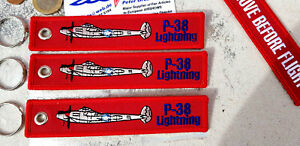 3er-SET-P-38-Lightning-WW2-USAF-Remove-Before-Flight-Avion-YakAir