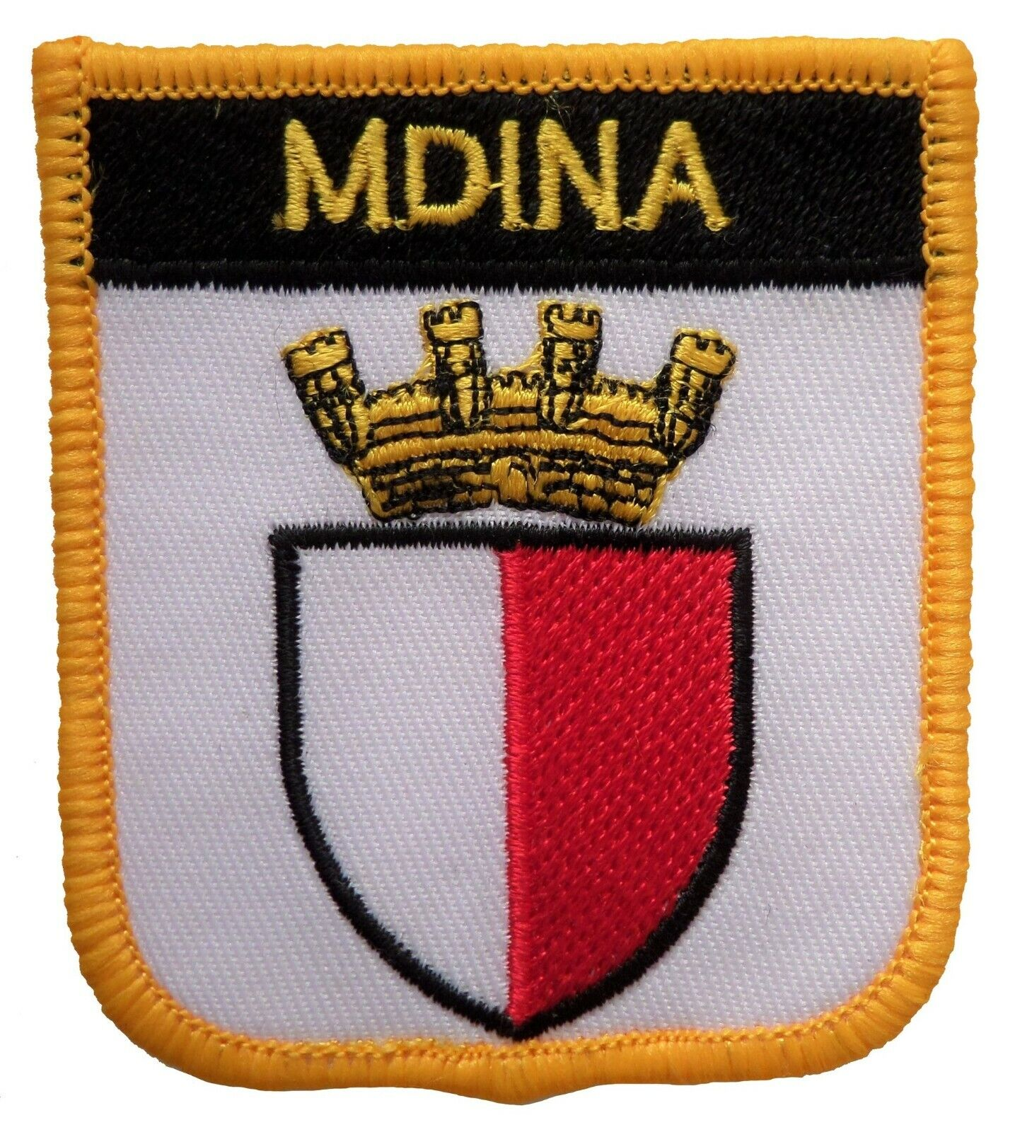 8 To Choose From Malta Town /& City Shield Embroidered Patches