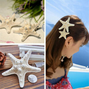 Fashion-Women-039-s-Girl-039-s-Beach-Wedding-Natural-Starfish-Sea-Star-Hair-Clip-Hairpin