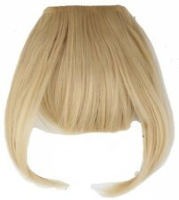 100% Real Natural Hair Extension Clip In Front Hair Bangs Fringe Remy Thick Hair