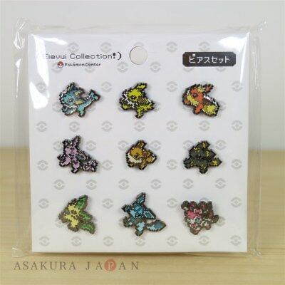 Pokemon Center Original Eevee DOT COLLECTION Pierce Pierced Earrings Evolution