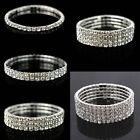 Elastic Crystal Rhinestone Bangle Wristband Bracelet Stretch Wedding Bridal Gift
