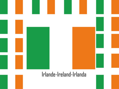Assortiment  25 autocollants Vinyle sticker drapeau Irlande-Ireland-Irlanda