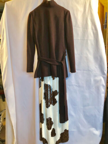 Rare Norman Norell Wool Jersey Tunic and Sequined