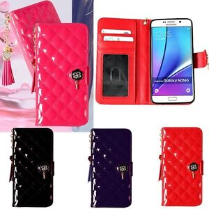 Maxi-Quilting-Wallet-Case-for-Samsung-Galaxy-S10-S10-S10e-S9-S9-S8-S7-S6-S5-S4
