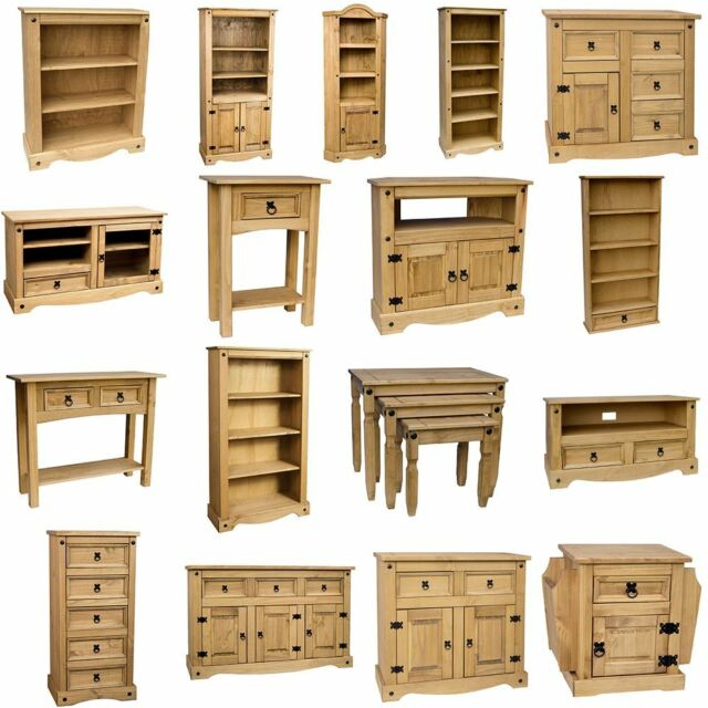 Mexican Pine Living Room Set Solid Wood