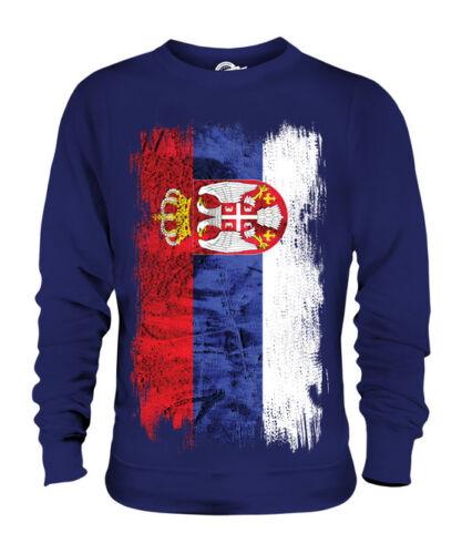 SHIRT FOOTBALL SERBIA GRUNGE FLAG UNISEX SWEATER TOP SRBIJA SERBIAN ?????