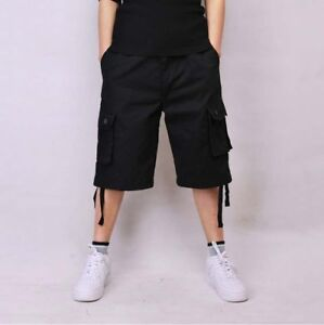 3cab67cd16b Plus Size 30-44 Men Cotton Casual Big and Tall Shorts Big Pocket ...