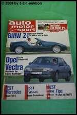 AMS Auto Motor Sport 20/88 * BMW Z1 Opel Vectra DB 190 E Alfa 164 Pro Car