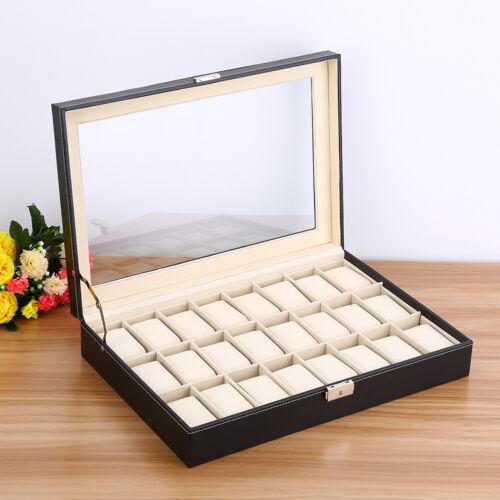 Uhrenbox Uhrenkoffer Uhr Aufbewahrungsbox Uhrenkasten Uhrenschatulle BSB 02